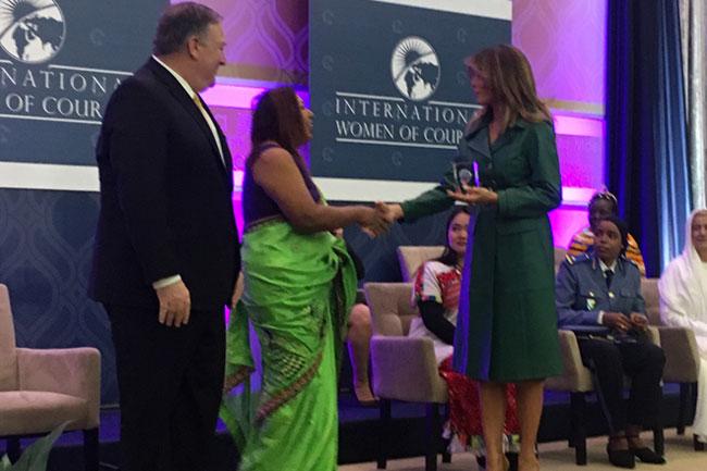 Sri Lanka's Marini de Livera receives International Women of Courage Award