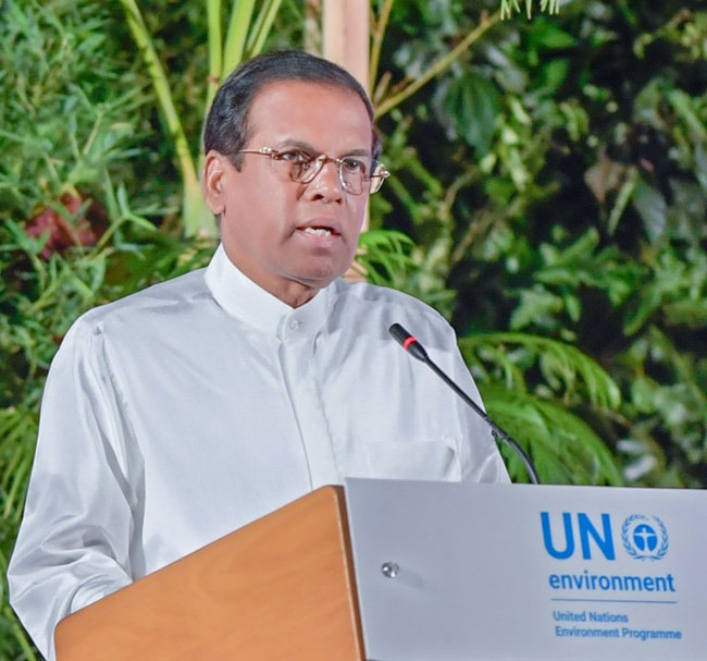 President highlights biggest challenges faced by Sri Lanka's farmers at UN Environment Assembly