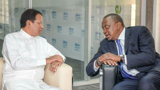 President Maithripala Sirisena meets Kenyan President