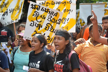 Protest by Ruhunu University students…