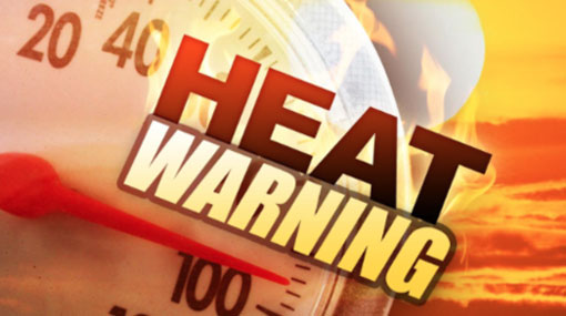 Heat advisory issued for several districts