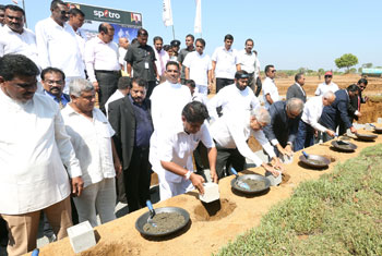 Foundation stone laying for oil refinery and cement factory…