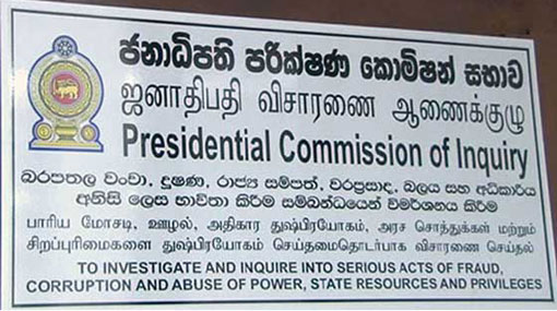 Commission probing corruption govt. to commence witness hearing today
