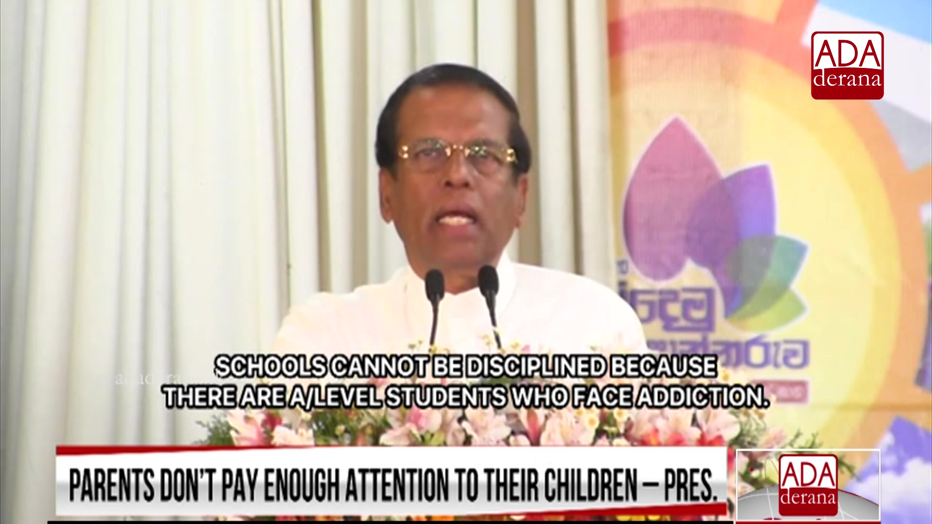 President accuses parents for children&#39s drug addiction (English)