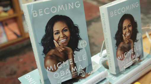 Michelle Obama's memoir Becoming sells 10 million copies