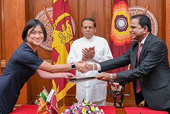 Agreement for Sri Lanka's first floating solar plant...
