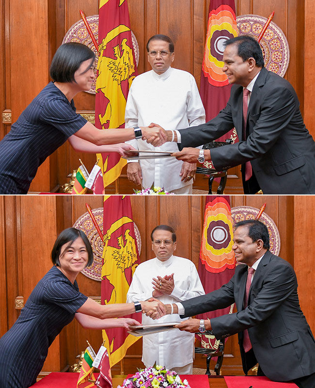 Agreement for Sri Lanka's first floating solar plant...