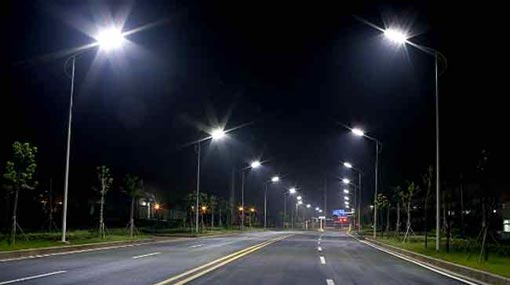 Street lamps to be replaced by L.E.D. lamps