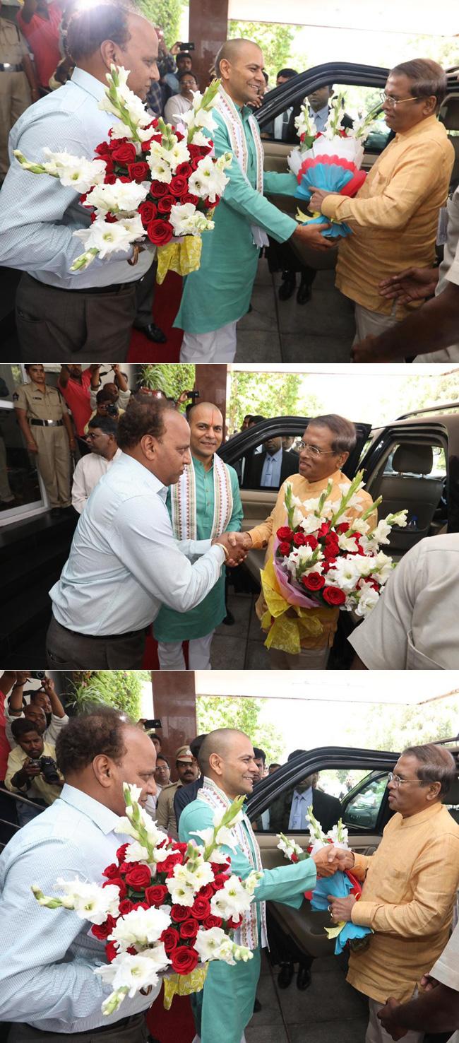 President on a visit to Tirupati...