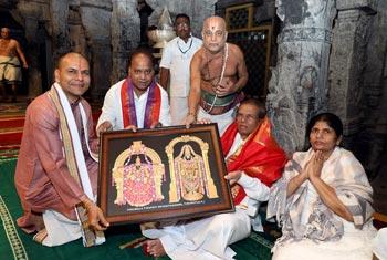 President in Tirupati…
