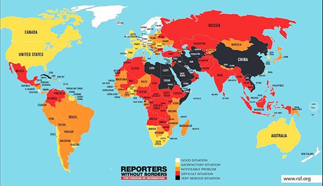 Sri Lanka improves in press freedom index