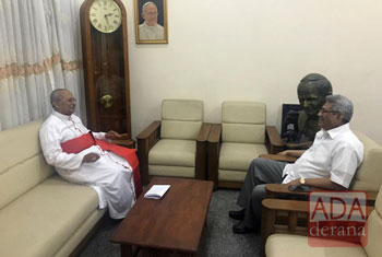 Gotabaya calls on Archbishop Malcolm Ranjith…