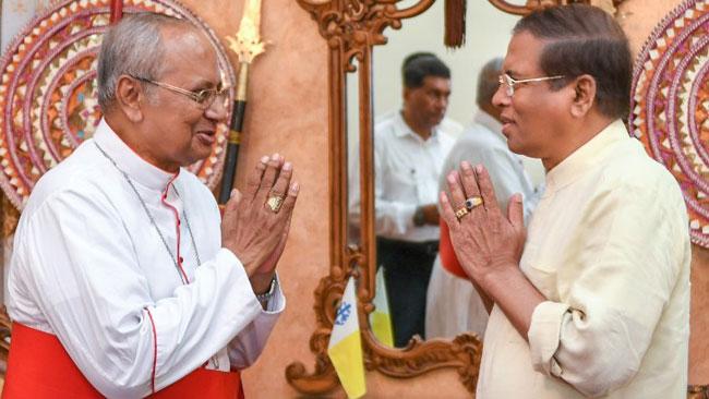 President calls on Cardinal Malcolm Ranjith