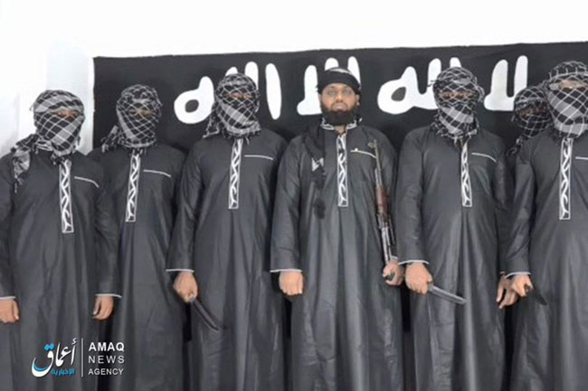 ISIS release picture of Sri Lanka bombings 'mastermind' and seven attackers