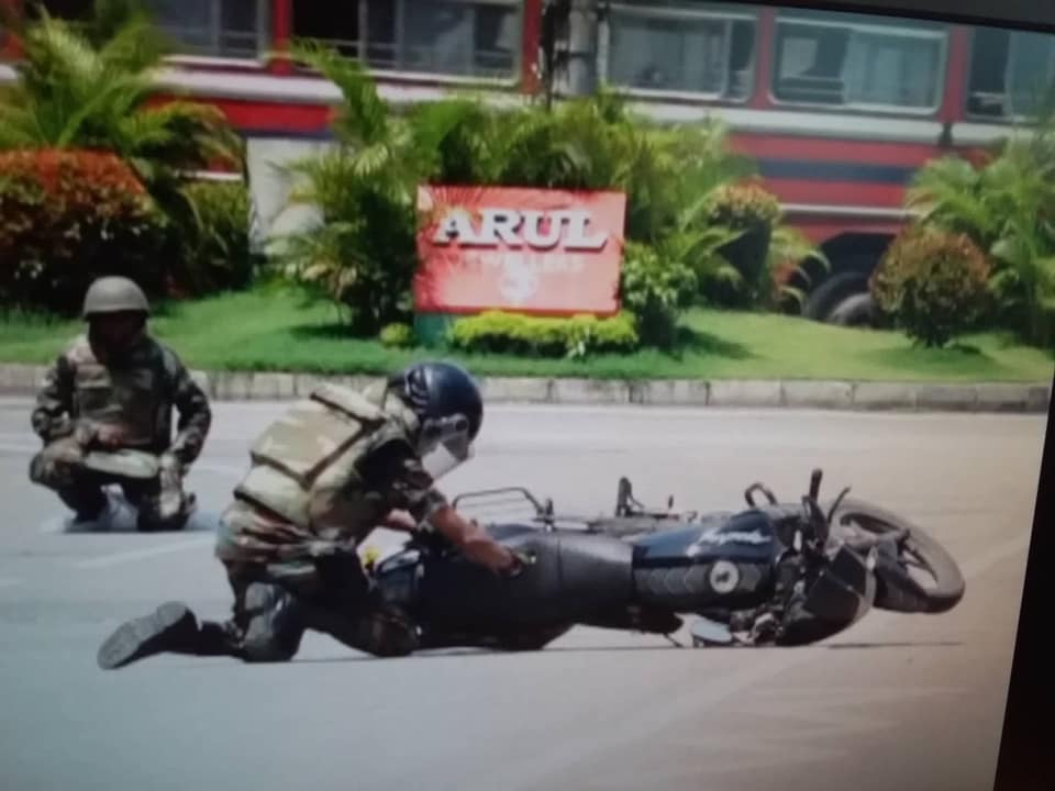 Another suspicious motorcycle destroyed through controlled explosion