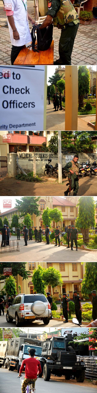Security check at Jaffna University...