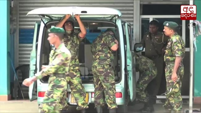 Search operations find weapons, army uniforms and ammo