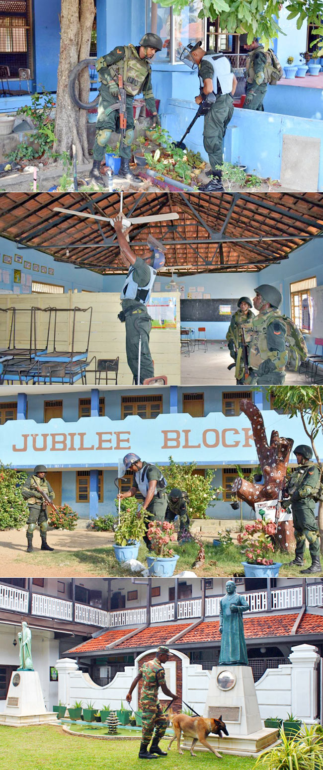 Troops continue to ensure security of schools...