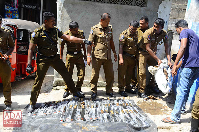 Swords, pistol, ammo and 'ice' recovered from well near mosque