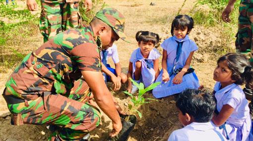Manusath Derana & Army kick off mega reforestation project at Wilpattu