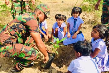 'Manusath Derana' reforestation project at Wilpattu...