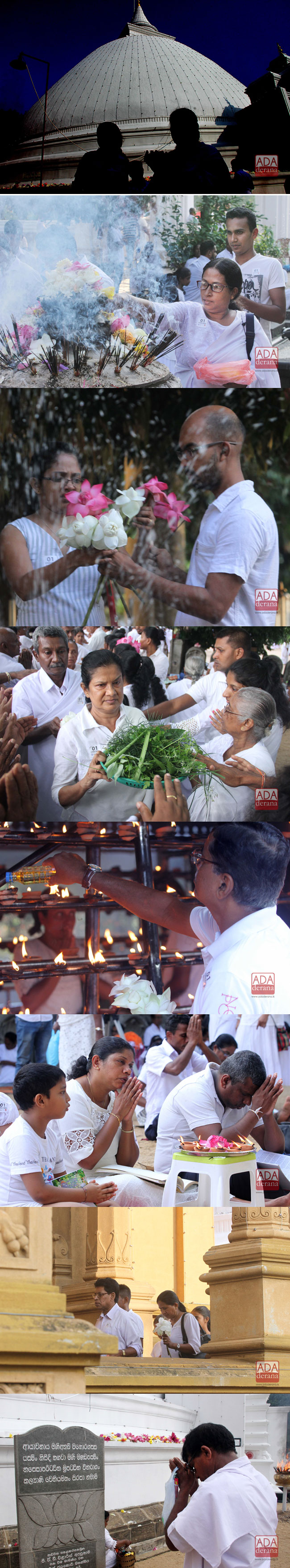 Devotees at Kelaniya Temple on Vesak..