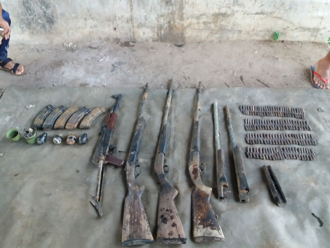 Navy recovers arms cache from under bridge in Muthur