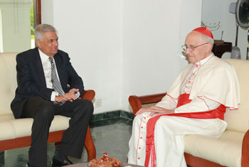 Cardinal Filoni of Vatican meets Prime Mnister...