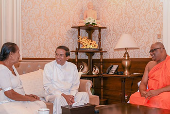 President meets Gnanasara Thero...