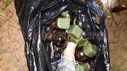 Suspect arrested over hand grenades found near school in Baduraliya