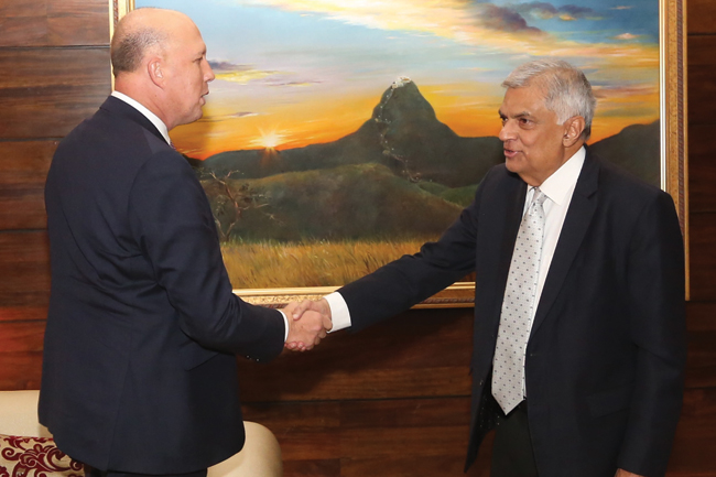 Australian Home Affairs Minister meets PM...
