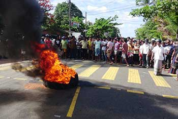 Protest after hit-and-run kills three children...