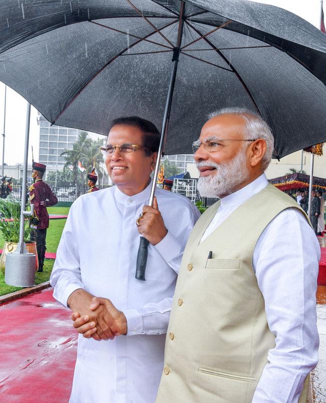 Modi's visit to Sri Lanka…