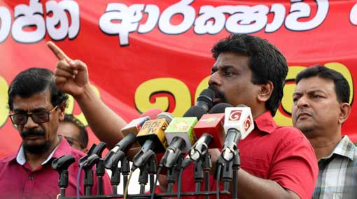 Demanding govt to step down doesn't mean paving way for Mahinda - JVP