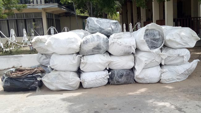 Navy nabs three with over 1638 kg of Beedi leaves