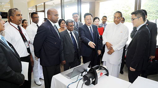 China donates security equipment to Sri Lankan Parliament