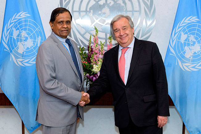 Amb. Rohan Perera pays farewell call on UN Secretary General