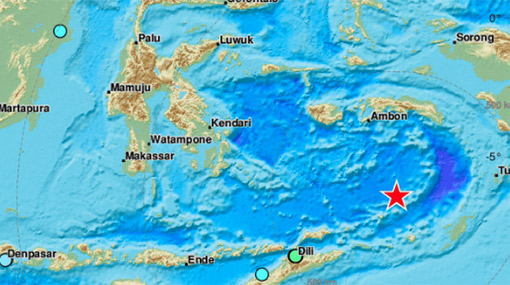 Strong quake recorded in Indonesia's Banda Sea