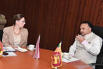 US envoy meets Minister Navin Dissanayake...