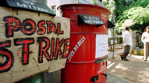 Postal workers' 48-hour token strike launched