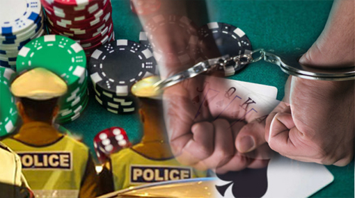 Suspect nabbed for assaulting two cops raiding a gambling den