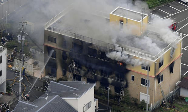 12 feared dead after suspected arson attack on studio in Japan