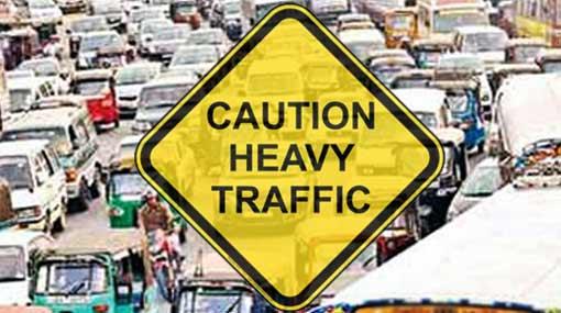 Heavy traffic near Technical Junction