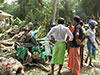 Woman and 2 girls dead after tree falls on three-wheeler