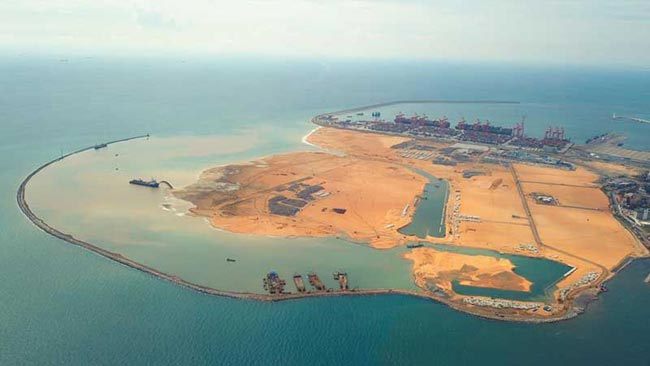 Port City land assigned under Colombo Divisional Secretariat