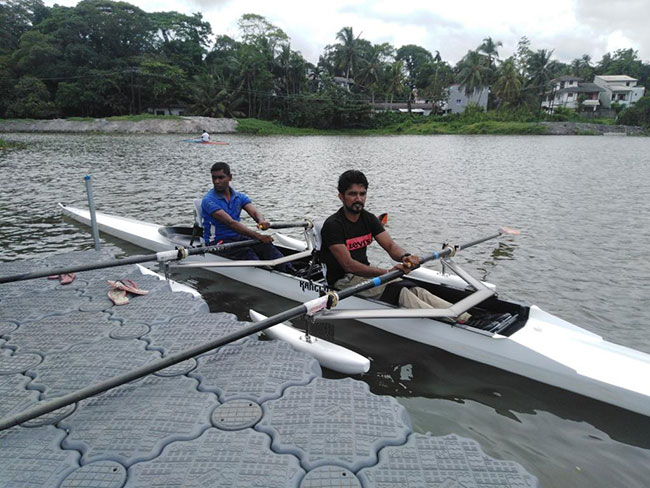 Sri Lanka's first Para Rowing Double Scull boat