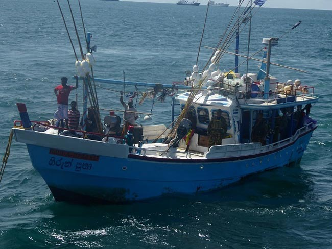 Sri Lankan fishermen detained in Seychelles