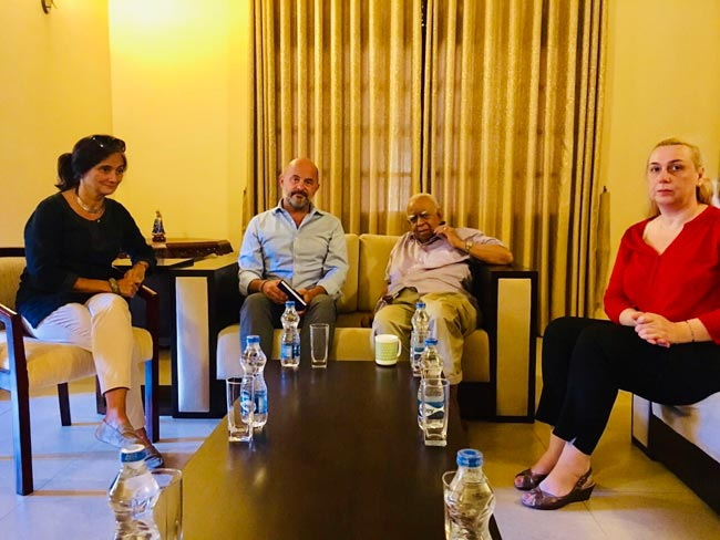 EU delegation meets Sampanthan
