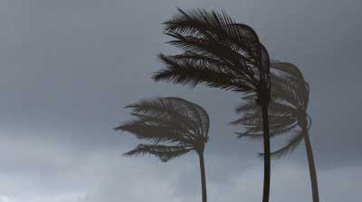 Warning issues for strong winds in land and sea areas