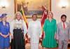 Three new European envoys present credentials to President